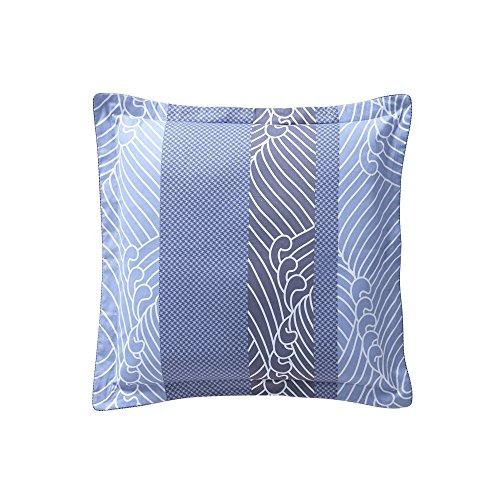 Essix Zahara Taie d'oreiller Satin de coton Bleu 65 x 65 cm