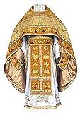 Seide Brokat Stoff gold & braun Farbe 111,8cm Liturgische