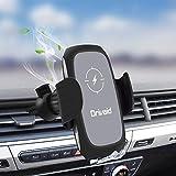 Drivaid Caricatore Wireless Auto, Qi Ricarica Rapida 10W/7.5W IR Induttivo Auto-Bloccaggio Supporto con Clip y Ventosa,...