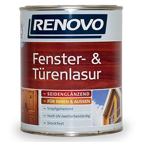 2,5L Renovo Fenster- und Türenlasur Holzlasur 0100 Farblos Seidenglänzend