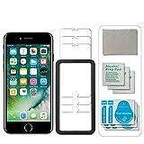 12PCS[3 Stück]Schutzfolie kompatible mit iPhone 8 Plus panzerglas & iPhone 7 Plus,mit Schablone,9H Festigkeit, Anti-Kratzen, Anti-Öl, Anti-Bläschen, 2.5D