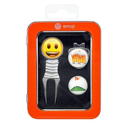 EMOJI Box met Releve Pitch en Happy Golf Ball Marker en Beer - Chrome