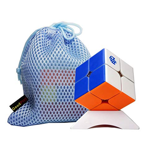 Gobus GAN 249 V2M 2x2 Speed Cube Gans249 v2 M Versión 2x2x2 Gan249 2m Puzzle Toy Stickerless + una Bolsa de Cubo y un Soporte de Cubo