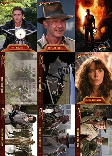 INDIANA JONES KINGDOM OF THE CRYSTAL SKULL MOVIE 2008 TOPPS COMPLETE BASE CARD SET OF 90