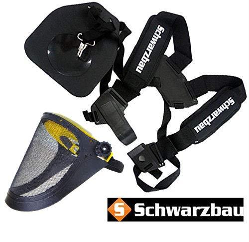 Komfort Tragegurt Doppel Schultergurt für Motorsense Freischneider Trimmer Neu Model (Model 3)