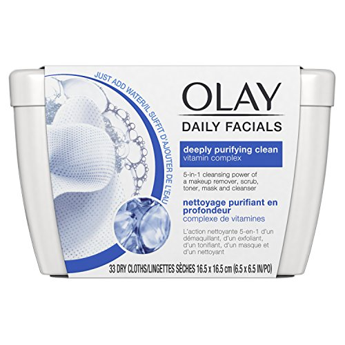 Olay Daily Facials Deeply Purifying Clean Cleansing Cloths 33 ct Tub