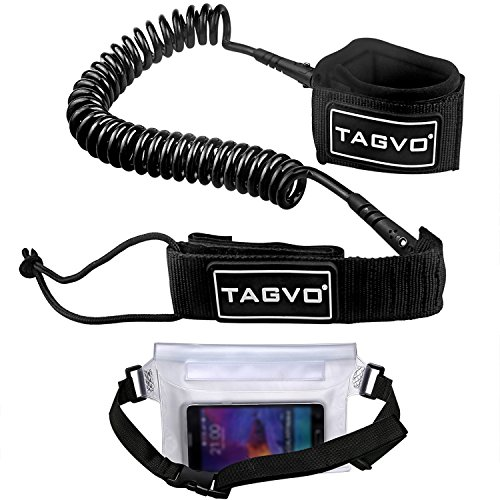 Tagvo SUP Leash Coiled 10ft Super Strong 7mm Cord...