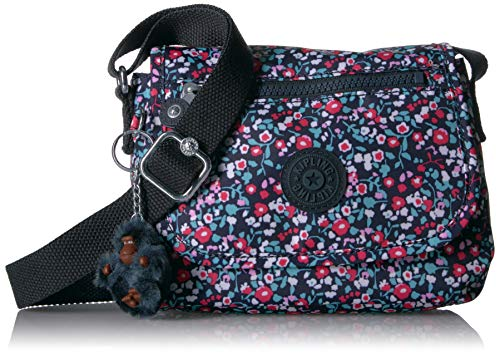 Kipling Sabian Mini Bag, Adjustable Crossbody Strap, Magnetic Snap Closure, Bolso cruzado Mujer, Amapola Brillante Azul, 7.75' L x 5.75' H x 3.5' D