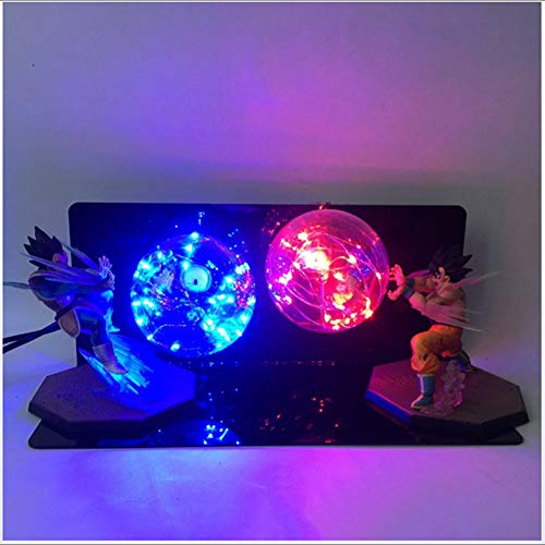 Dragon Ball Z Son Goku & Vegeta Nachtlampje Power Up Led Light Lamp Action Figure Hele Set Decorcadeaus