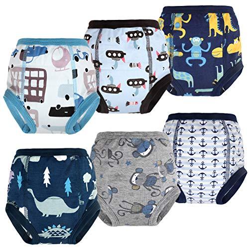 Flyish Lot de 6 Pantalons d'entraînement pour Pot pour bébé sous-vêtements d'entraînement pour Enfants sous-vêtements pour bébé pour garçon et Fille Couches Anti-fuites 4 Ans