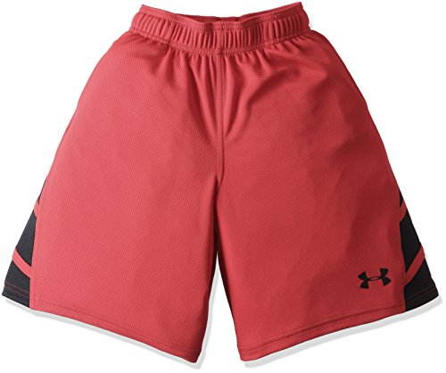 Under Armour Pantalones cortos dobles triples para niños - 1290079, Pantalones cortos dobles triples, M, Rojo (600)/Negro