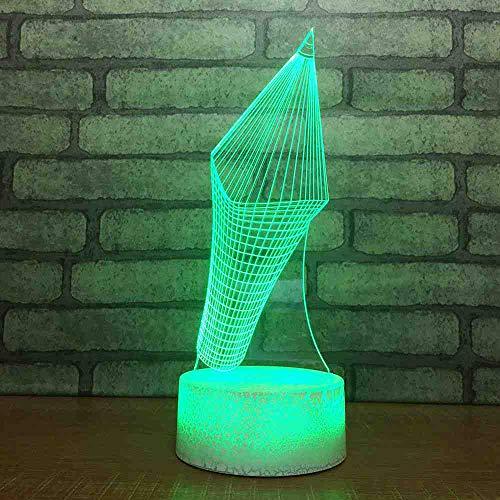 BJDKF Creatief, 3D usb Astratto illusie, LED-potlood, nachtlampje, verlichting voor thuis of als tafellamp met ontluchtingsknop voor kinderen