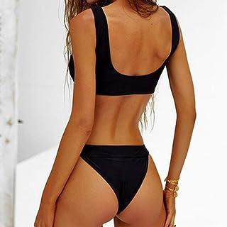 Generic Brands 2020 Sexy Thong Micro Bikinis Women Swimsuits Solid Push Up Swimwear Female Bikini Set Brazilian Biquini Bathing Suit