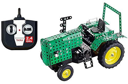 TRONICO Metallbaukasten RC Traktor 2.4G Deere Konstruktionsspielzeug Mint STEM Modellbau Bauen mit Werkzeug
