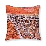 Viowr22iso Fundas de almohada decorativas de 45 x 45 cm, funda de cojín Navajo Bridge Arizona para decoración del hogar para sofá cama silla