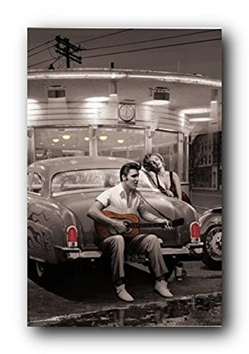Legendary Crossroads Chris Consani Elvis Marilyn Cars Movies Print Poster 24x36