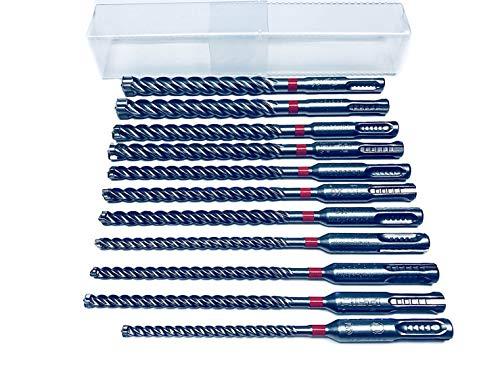 11 tlg. Hilti Bohrer SET - SDS PLUS - TE CX M1 5/120 +-6-6-6-8-8-8-10-10-12-12/170mm Hammerbohrer