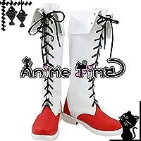 ●●サイズ選択可●●女性23.5CM MJR1912 コスプレ靴 ブーツ 東方Project 博麗霊夢 はくれいれいむ
