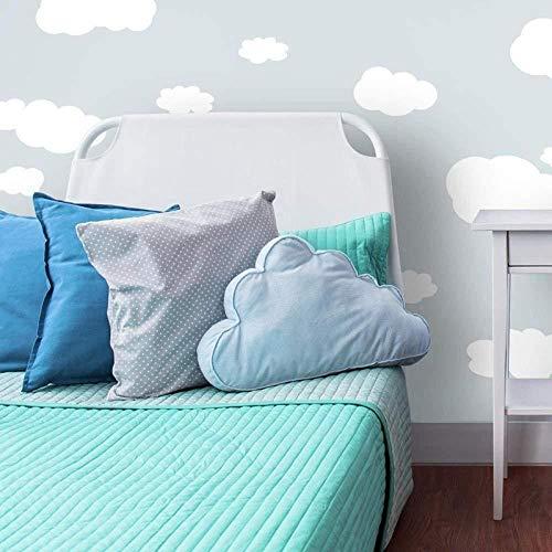 Autocollant Mural New Creative White Cloud Chambre Enfants Décoration Graffiti Salon Chambre Murale @ S
