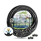 Innoo Tech Bewässerung Kit, Bewässerungssystem, 12M Misting Line + 14 Messingnebeldüsen + ein Messingadapter Outdoor Mister geeignet für Patio Garden Gewächshaus Trampolin Wasserpark Gartenbewässerung
