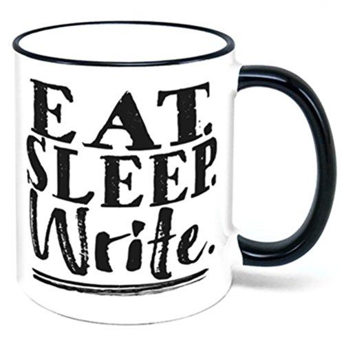 Eat Sleep Write Coffee Mug writer author gift