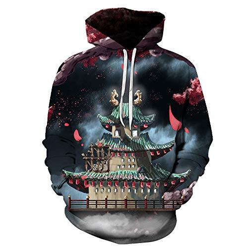 SjyBed Unisexo Sudaderas con Capucha,Sudadera con Capucha de la Historieta de los Hombres, Jersey Casual de la Camiseta gráfica de la impresión 3D-10_XXXXXL