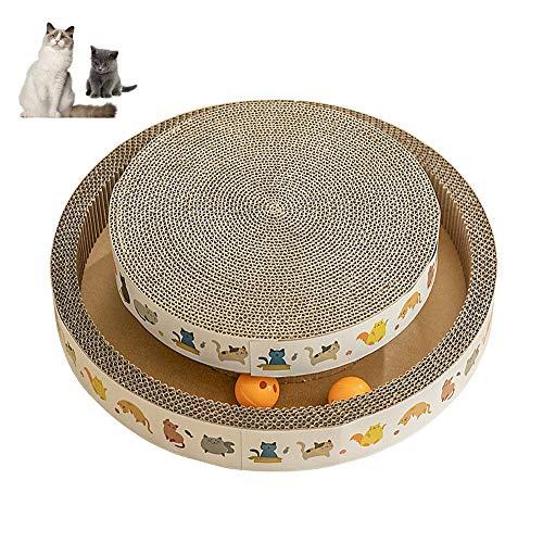 PULLEY Rascador de gato grande para gatos con tablero de rasguños, juguete para gatos y atrapa la bola redonda de juguete (tamaño : L)