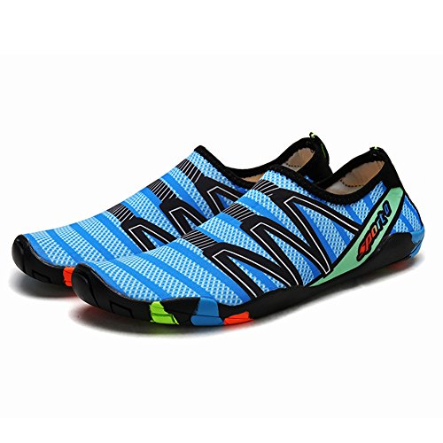 Qimaoo Zapatos de Agua para Buceo Snorkel Surf Piscina Playa Vela Mar Acuáticos Cycling Deportes Yoga Aqua Calzado para Hombre Mujer