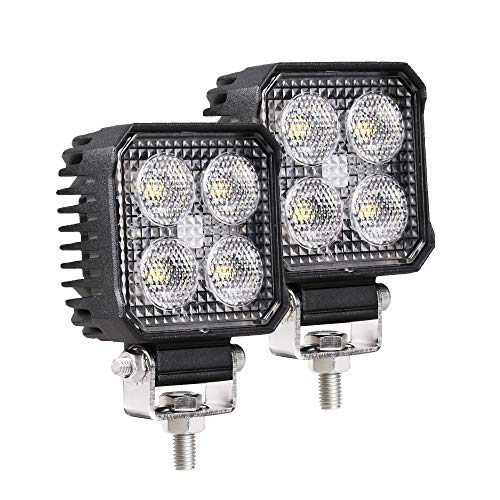 Primelux Waterproof Square LED Work Light 2.8-inch 48W 5500LMS High Power Working Lamps Compatible with Jeep Off Road Agricultural Tractors Forklift Heavy Duty Vehicles Construction Machines (2 Pack)