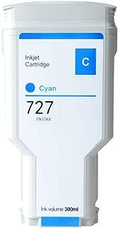 Aomya 300ml Cyan Ink Cartridge Dye Ink Comoatible for HP 727 for HP DesignJet T920 T930 T1500 T1530 T2500 T2530