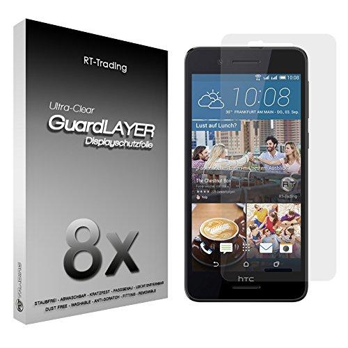 3x HTC Desire 728G Dual Sim - Bildschirm Schutzfolie Klar Folie Schutz Bildschirm Screen Protector Bildschirmfolie - RT-Trading