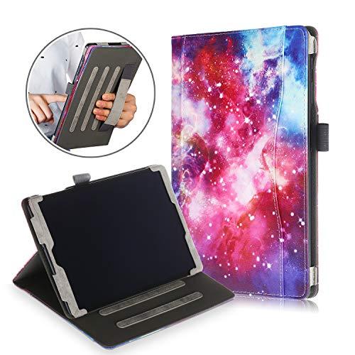 Xuanbeier Funda de Cuero Multifuncional con Soporte de PU para Samsung Galaxy Tab A T510 / T515 10.1 Pulgadas 2019, con Múltiples ángulos de visión y Soporte de Mano,Galaxy