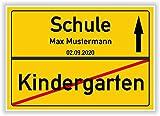 Unbekannt Ortsschild - Bild - Schule - Kindergarten -