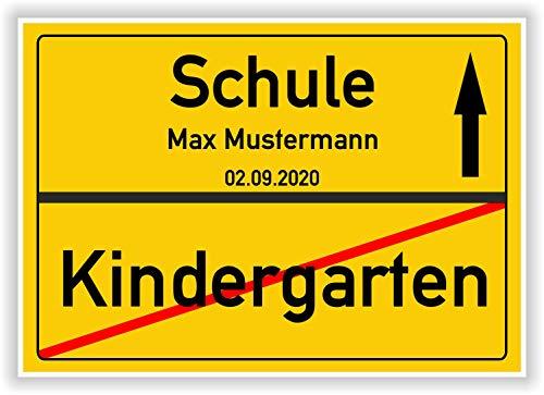 Unbekannt Ortsschild - Bild - Schule - Kindergarten - Einschulung - persönliches Geschenk - Geschenkidee zum 1 Schultag