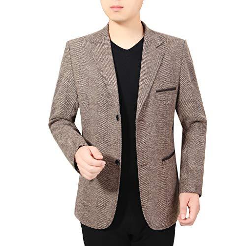 Blazer Herren Stilvolle Lässig Solide Blazer Business Hochzeit Party Outwear Mantel Anzug Tops Mens Gesteppte Jacke
