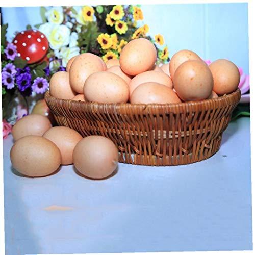 DierCosy Nido Artificial Huevo Simulación Alimentos maniquí de plástico decoración de la casa del Huevo Juguetes Ligera Simulación Huevos 5Pcs