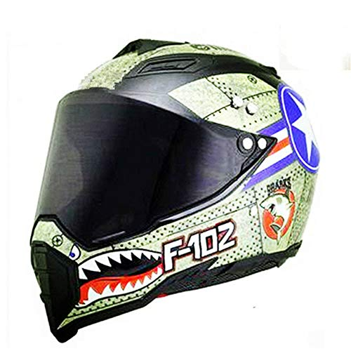 IAMZHL Schwarz glänzend Helm Motorrad Racing Fahrrad HelmDirt Bike Downhill MTB Cross Helm Kapazitäten SML XL XXL-SDU-dark-1-XXL