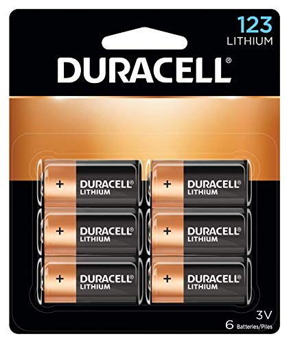 Duracell - 123 3v Lithium Photo Size Battery - Long Lasting Battery - 6 Count