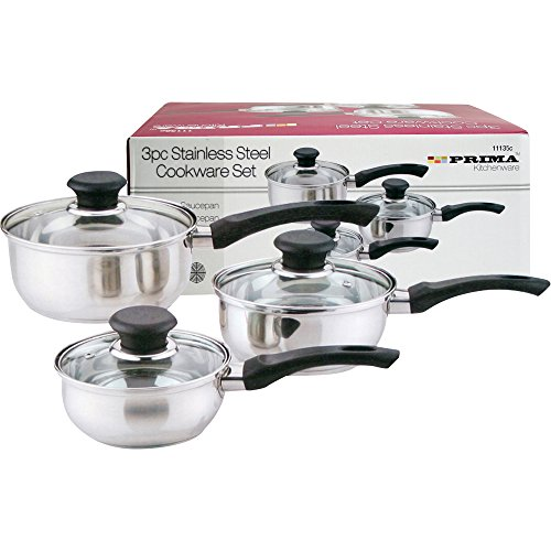 Prima 3pc Stainless Steel Cookware Set 14,16,18cm