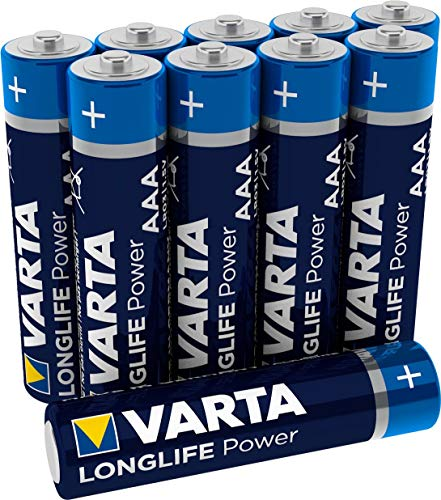VARTA Longlife Power AAA Micro LR03 Batterie (10er Pack) Alkaline Batterie - Made in Germany - ideal für Spielzeug Taschenlampe Controller und andere batteriebetriebene Geräte