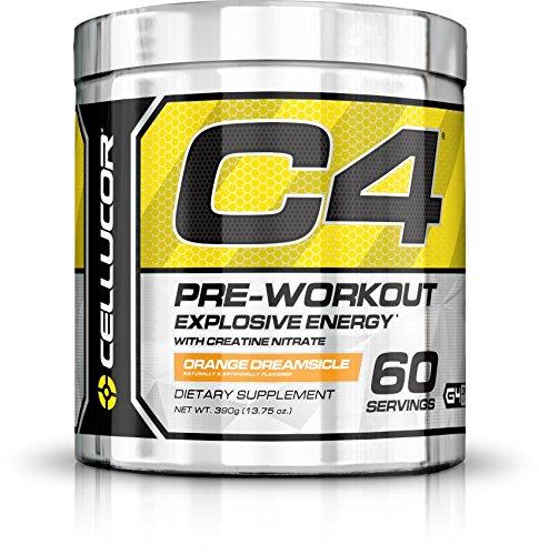 Cellucor - C4 G4 - Suplemento de preentrenamiento en polvo - Con creatina - Helado de naranja - 60 raciones