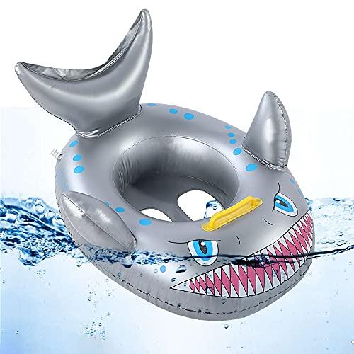 O-Kinee Baby Schwimmring, Baby Float schwimmreifen, Schwimmsitz Baby, Aufblasbarer Hai Schwimmsitz, Baby schwimmring Aufblasbarer, für Kleinkind Schwimmhilfe Spielzeug