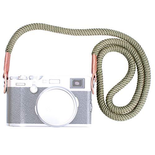 VKO Soft Cotton Camera Neck Strap,Shoulder Strap Compatible with Sony A6600 A6400 A6000 A6300 A6500 A5100 RXIR II RX10 X100F X-T30 X-T20 X-T3 X-T2 X70 X-Pro2 X-E3 X30 X100S X100T Camera Green