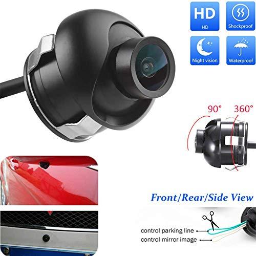 Kamera für toten Winkel links und rechts des Fahrzeugs, um 360 ° einstellbare Rückfahrkamera Wasserdichte und stoßfeste Kamera für toten Winkel des HD-Objektivs