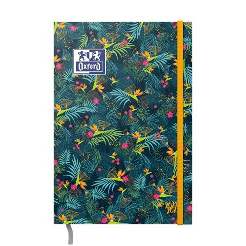 OXFORD FLOWERS Agenda Scolaire Sept 2021 ‐ Sept 2022 Journalier 352 Pages Format 12x18cm Couverture souple Vert