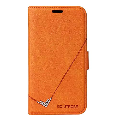 Hülle für Galaxy Note 8 Hülle Handyhülle [Standfunktion] [Kartenfach] Schutzhülle lederhülle flip case für Samsung Galaxy Note8 - DEYTB010270 Orange