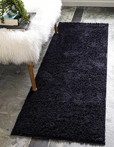 Unique Loom Serenity Solid Shag Collection Super Soft Micro Polyester Light Gray Area Rug (4' 0 x 6' 0)