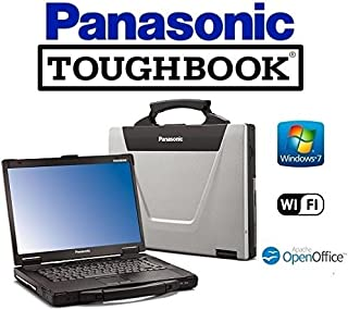 Rugged Panasonic CF-52 Toughbook Win 7 Pro Touchscreen C2D 2.26GHz 4GB RAM 1TB HDD WiFi DVD/CD-RW Laptop PC