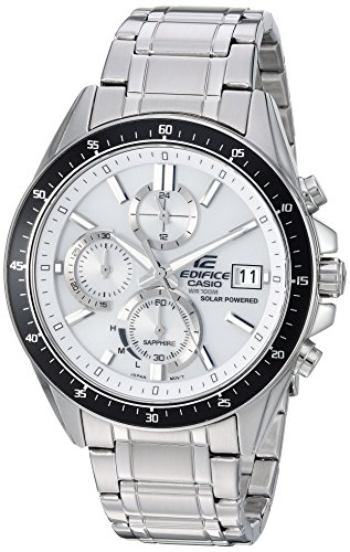 Casio Men's Edifice Quartz Watch with Stainless-Steel Strap, Silver, 21.7 (Model: EFS-S510D-7AVCR)