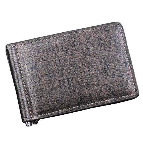Auifor mannen Bifold zakelijk lederen map identificatie-creditcard-houder portemonnee tassen
